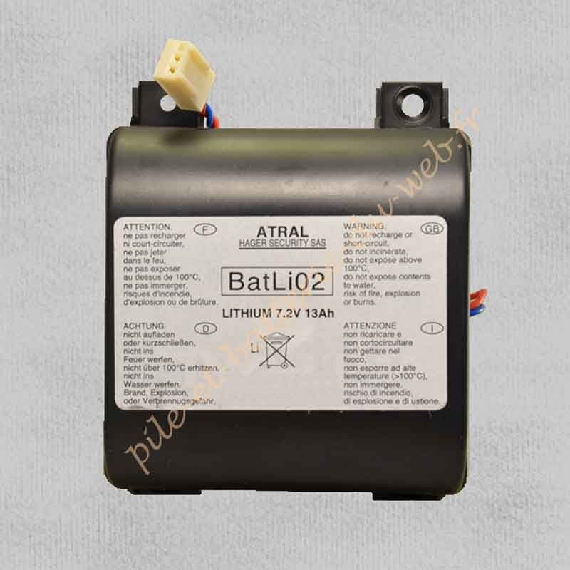 BATLI02 Pile Lithium Daitem 7.2 v 13Ah