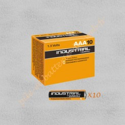 Pack de 10 piles LR03 1,5v Duracell Procell Industrial
