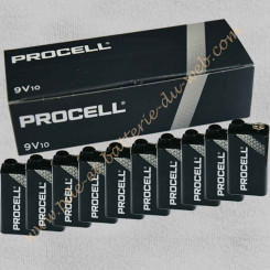 Pile Diagral duracell procell 9 volts