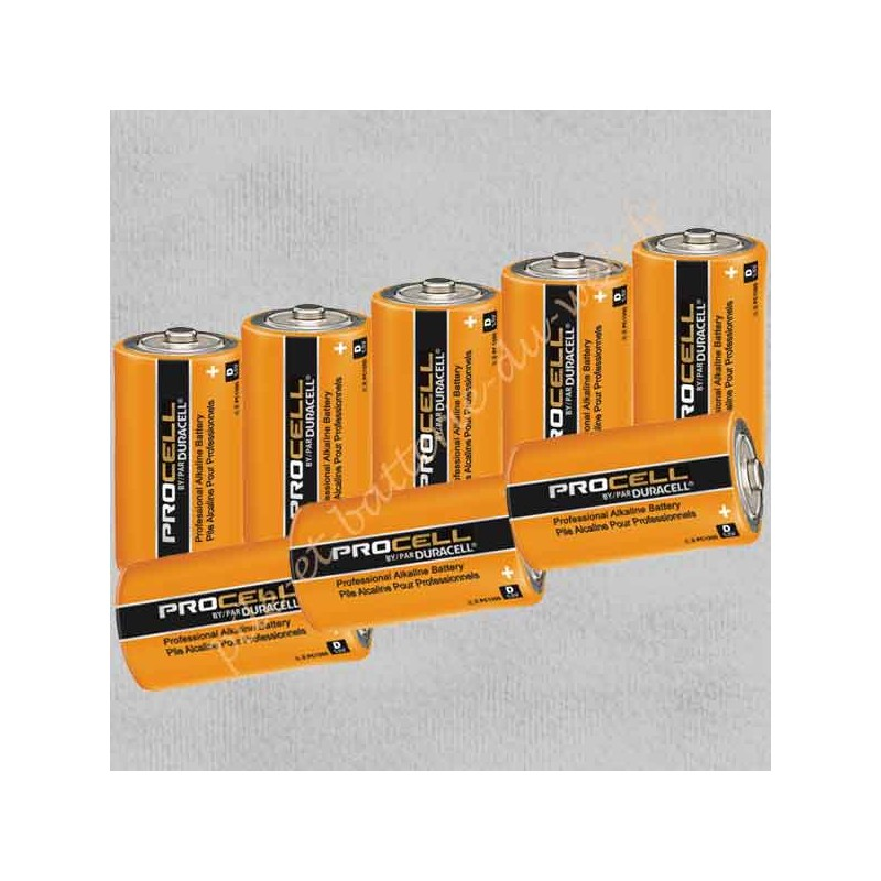 Lot de 8 piles alcalines Duracell Procell Industrial